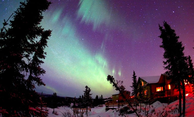 Alaska Northern Lights During Winter
